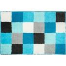 Blocks - Badmat - 65x115cm - Aqua
