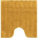 Casilin California - Antislip WC mat - Toiletmat met uitsparing - 59x59cm - Oker geel