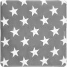 Antislip douchemat grijs met sterren met zuinappen