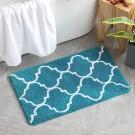 Badmat, antislip, absorberende badkamermat, Marokkaanse trellis, badkamer tapijt, badtapijt, douchemat, microvezel keukentapijten, deurmatten binnen magische mat voor badkamer keuken ingang 50x80 cm hemelsblauw