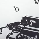 MSV douchegordijn Love zwart 180cm