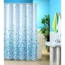KAV – Douchegordijn – Polyester – 180 x 180 cm – Mozaïek Blauw