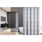 Su.B.dgn Douchegordijn 120x180 polyester badkamer douchegordijn wasbaar met 12 ringen | Grijs Patroon